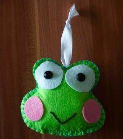 Bastelanleitung Anhänger Frosch - Handarbeit kaufen