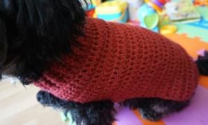 Häkelanleitung für den einfachen Hundemantel - Handarbeit kaufen