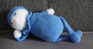 ♡ Amigurumi schlafender Hase  ♡ amigoll9 ♡ Handarbeit ♡ - Handarbeit kaufen