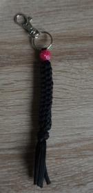 Schlüsselanhänger Paracord schwarz Handmade - Handarbeit kaufen
