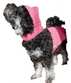 Hundemantel / Wintermantel für kleine Hunde mit Kapuze ♡ amigoll9 ♡ Handarbeit - Handarbeit kaufen