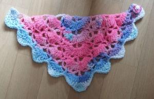 Hundehalstuch in der Farbverlaufswolle rosa/lila Halsumfang bis 32 cm ♡ amigoll9 Handmade - Handarbeit kaufen