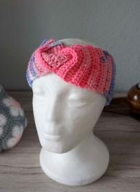 Bandeau Stirnband ♡ gehäkelt Regenbogenfarbe Twist ♡ Kinder Damen ♡ amigoll9 Handmade - Handarbeit kaufen