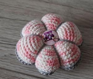 Nadelkissen für Stecknadeln ♡ nähen ♡ rosa grau ♡ amigoll9 ♡ Handarbeit ♡ 100% Baumwolle - Handarbeit kaufen