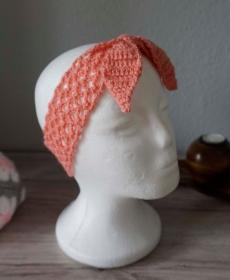 Haarband ♡ Bandeau Stirnband ♡ gehäkelt rosa ab 50cm ♡ Kinder Damen ♡ amigoll9 Handmade - Handarbeit kaufen