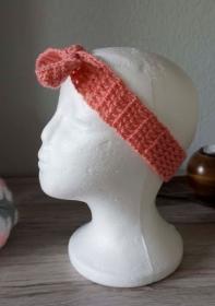 Haarband ♡ gehäkelt rosa ab 50cm ♡ Kinder Damen ♡ amigoll9 Handmade - Handarbeit kaufen