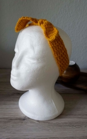 Haarband ♡ gehäkelt goldgelb ab 50cm ♡ Kinder Damen ♡ amigoll9 Handmade - Handarbeit kaufen
