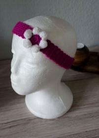 Haarband ♡ gehäkelt lila mit Blume 47cm-53cm ♡ Kinder Damen ♡ amigoll9 Handmade - Handarbeit kaufen