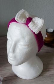 Haarband ♡ gehäkelt lila mit Schleife 53cm-57cm ♡ Kinder Damen ♡ amigoll9 Handmade - Handarbeit kaufen