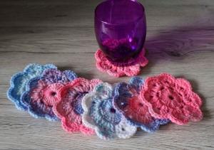 Untersetzer ♡ Blumen ♡ 7 Stück ♡ amigoll9 ♡ Handarbeit - Handarbeit kaufen