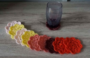 Untersetzer ♡ Blumen ♡ 10 Stück ♡ amigoll9 ♡ Handarbeit - Handarbeit kaufen