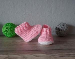 ♡ Babyschuhe Puppenschuhe Boots Stiefel Größe 16 ♡ amigoll9 ♡ gehäkelt ♡ Handarbeit ♡ - Handarbeit kaufen