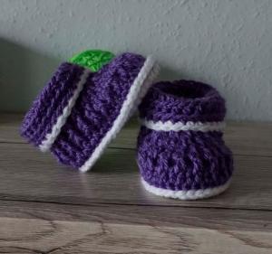 ♡ Babyschuhe Booties Boots Stiefel Größe 16 ♡ amigoll9 ♡ gehäkelt ♡ Handarbeit ♡ - Handarbeit kaufen