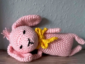 Häkelanleitung Amigurumi Mini Häschen Rosa
