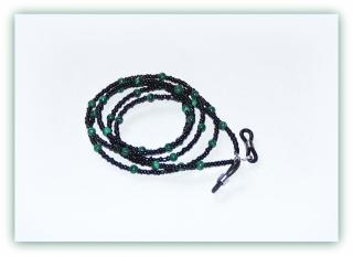 Brillenkette Malachit für Frau und Mann, Brillenband unisex