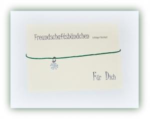 Edelstahl Freundschaftsbändchen Kleeblatt