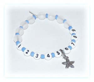 Reihenzähler Armband 1 - 9 elastisch mit Marker
