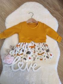 Girly Sweater, Mädchenkleidchen in Größe 86  - Handarbeit kaufen