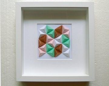 3D-Wallart Origami Tetraeder im Rahmen
