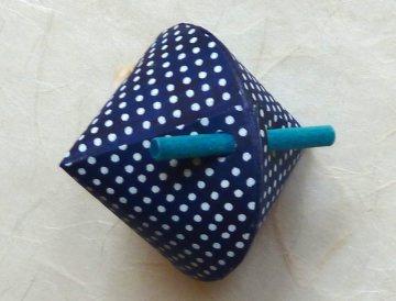 Schmuck-/Geschenkschächtelchen blau weiss gepunktet