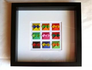 3D-Wallart Origami bunt geometrisch