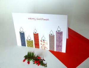 Grußkarte Weihnachten mit rotem Umschlag