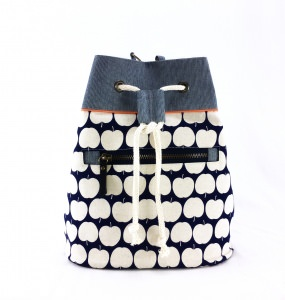 Bucket Bag Appel blau MatchBag Beuteltasche Einzelstück