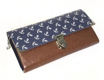 Geldbörse Portemonnaie Ruby Anker maritim jeansblau