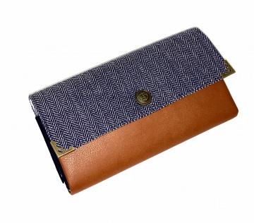 Portemonnaie Geldbörse Opal Herringsbone Anker blau