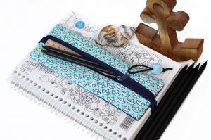 Stifteetui für Notizbuch, Federtasche, Federmäppchen,Stiftehalter, Bullet Journal