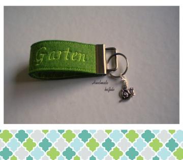 Schlüsselanhänger Garten