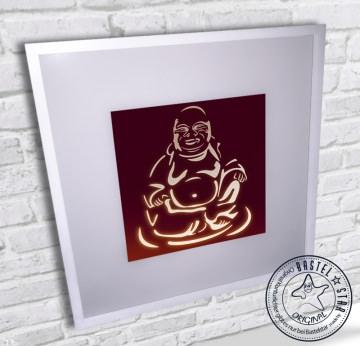 Wandbild Buddha Leuchtrahmen Wandlampe LED
