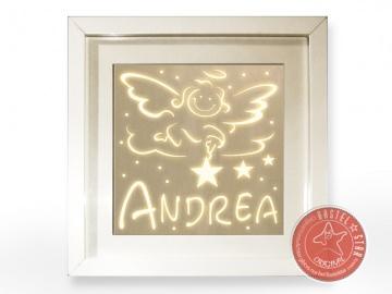 Tauflicht Mädchen Schlummerlampe Namenswächter LED Schutzengel