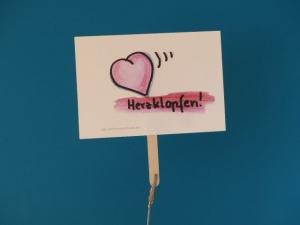 Konferenzkarte: Herzklopfen  - belebe Videokonferenzen   - Handarbeit kaufen
