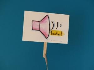 Konferenzkarte: lauter! - belebe Videokonferenzen      - Handarbeit kaufen