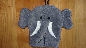 Waschhandschuh Elefant für Kinder (Waschlappen) - Handarbeit kaufen