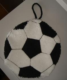 Kinderwaschhandschuh in Form eines Fußballs - für Kinder - Handarbeit kaufen