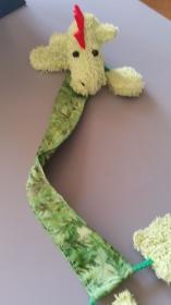 ♥♥♥   hellgrüner Drachen als Lesezeichen   ♥♥♥ - Handarbeit kaufen