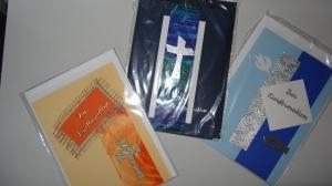 3 Karten zur Konfirmation für Mädchen und Jungs - Handarbeit kaufen