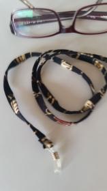 schwarz beiges/braunes Brillenband für den Mann oder die Frau