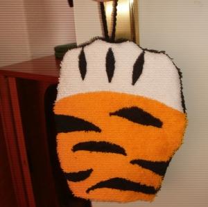 ***  Waschlappen Tigertatze für Kinder (Waschhandschuh)  ***  - Handarbeit kaufen