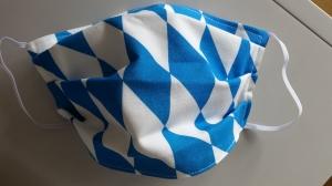 Gesichtsmaske für die Bayern!, doppellagig aus Baumwolle