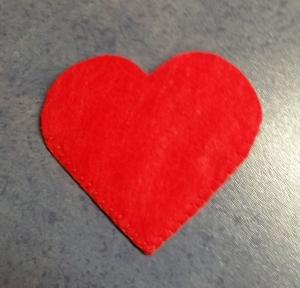 ♥♥♥ Herz Bucheck Lesezeichen aus rotem Filz ♥♥♥ - Handarbeit kaufen