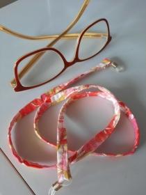 Brillenband in rosa gemustert ob für die Sonnenbrille oder Lesebrille - Handarbeit kaufen