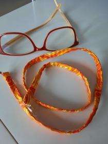 orange-gelb gemustertes Brillenband - Sommer ich komme