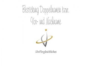 Namensbestickung 2 Namen / Doppelnamen Filzhüllen (Angelpass / Mutterpass / Jagdschein / U-Heft-Hüllen / Gotteslob )