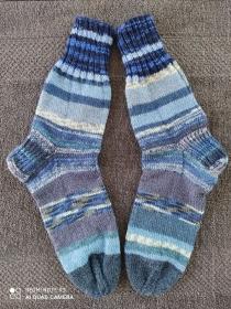 Handgestrickte Wollsocken/-strümpfe, Größe 40/41 - Handarbeit kaufen