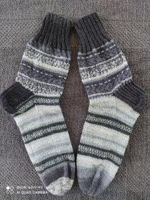 Handgestrickte Wollsocken/-strümpfe, Größe 42/43  - Handarbeit kaufen