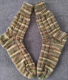 Handgestrickte Wollsocken/-strümpfe, Größe 42/43