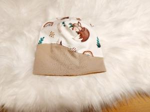 Beanie, Mütze, einlagig oder als Wendemütze, Babymütze, Fuchs, KU: 34-60 cm - Handarbeit kaufen